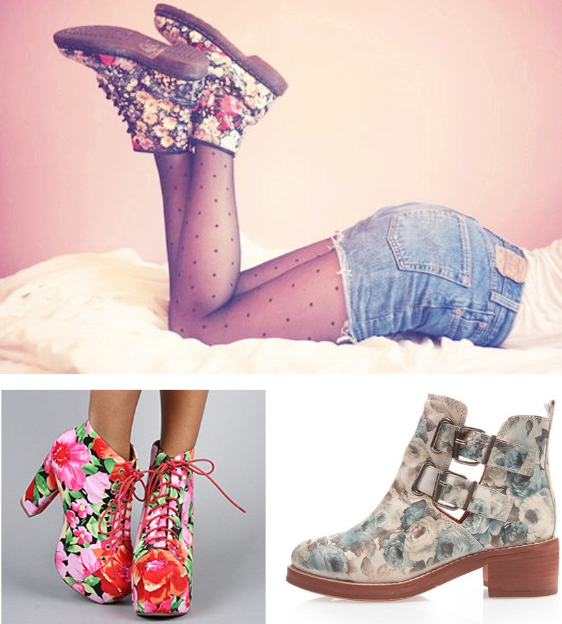 Get inspired: Flowered boots